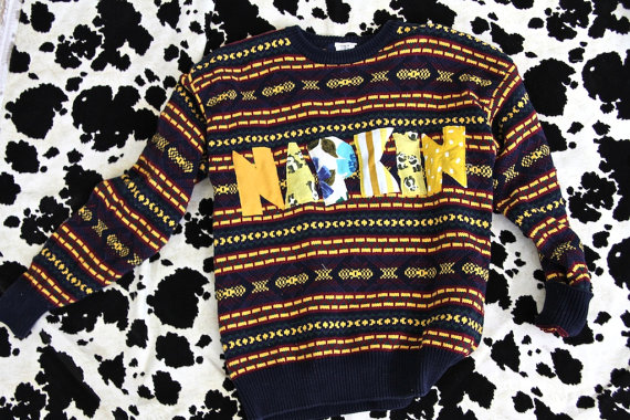 NAPKIN sweater, sweater, mixed prints
